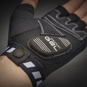 GripGrab WorldCup Gepolsterte Kurzfinger-Handschuhe black/white